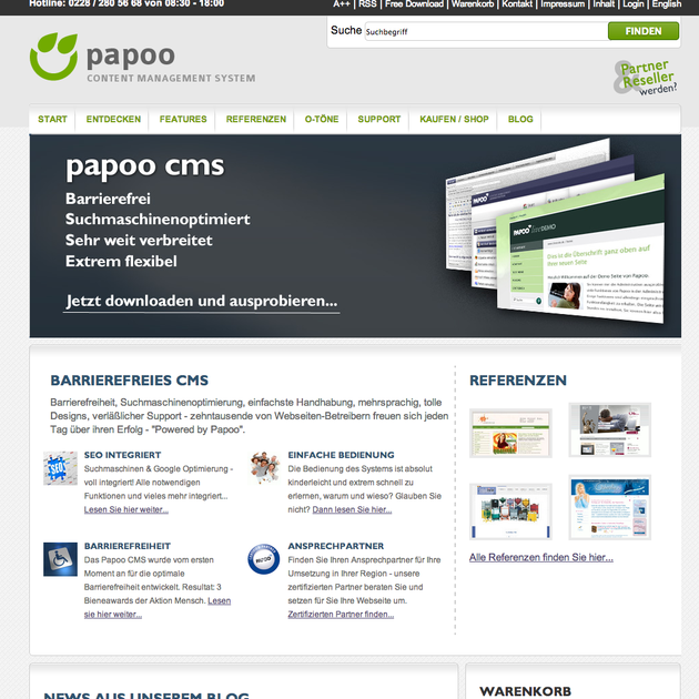 Papoo CMS