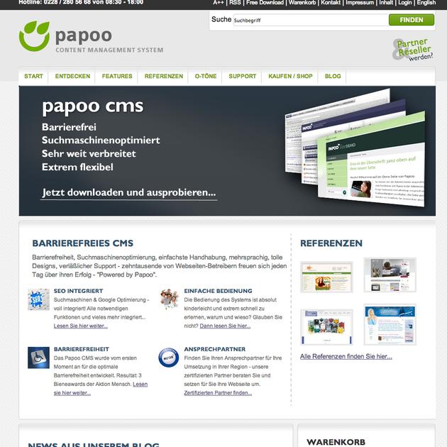 Papoo Media nutzerfreundliches und einfach zu bedienendes SEO CMS