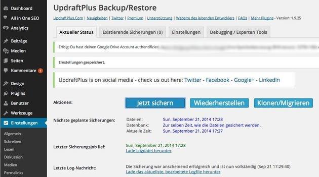 UpdraftPlus-Backup-Wordpress-google-Drive-deutsche-Anleitung-13