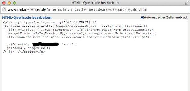 Papoo-TinyMCE-Javascript-CDATA